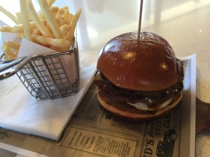 The burger and fries